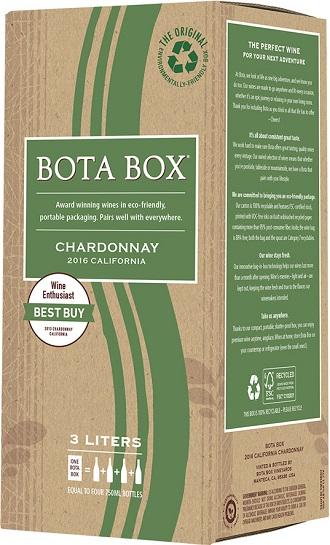 カリフォルニアワイン ボタ ボックス シャルドネ3000mlパックx1ケース(3本)バッグ・イン・ボックス