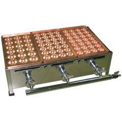 千田オリジナル ガスたこ焼き器 銅板3丁セット