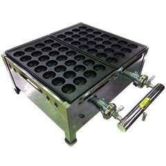 千田オリジナル ガスたこ焼き器 鉄板2丁セット