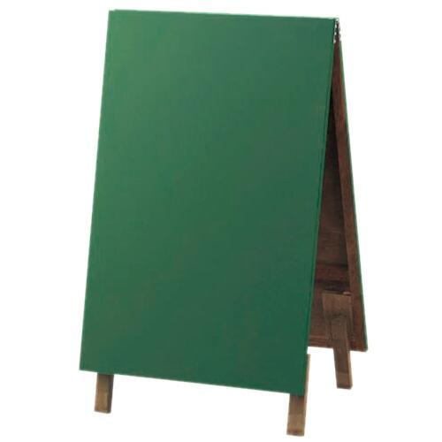 用美 両面スタンド型ボード 緑(黒板・チョークタイプ) 48441