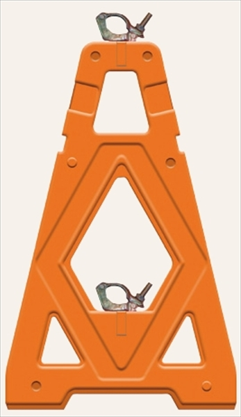 【決算セール中!!】 仙台銘板 単管用 バリケード Mガード 2型 オレンジ(4台1組) 3190031
