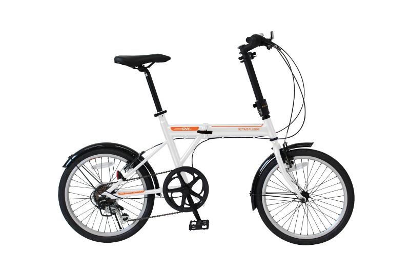 アクティブプラス ノーパンク 20インチ折畳自転車 6段ギア 白 MG-G206NF-WH 20インチ ホワイト