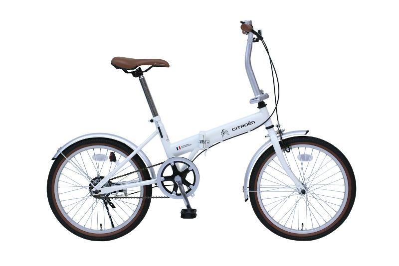 シトロエン 20インチ折畳自転車 シングルギア MG-CTN20G 20インチ ホワイト
