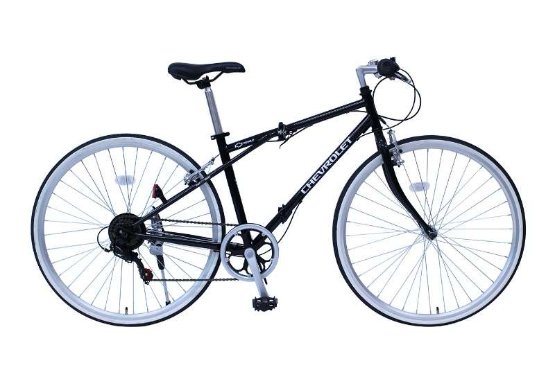 シボレークロスバイク 折畳自転車 6段ギア MG-CV7006G ブラック