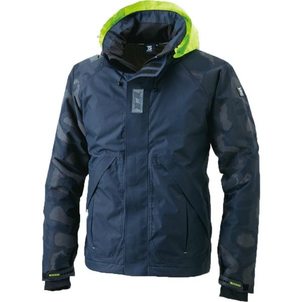 メガヒートフラッシュ防水防寒ジャケット ブラック M