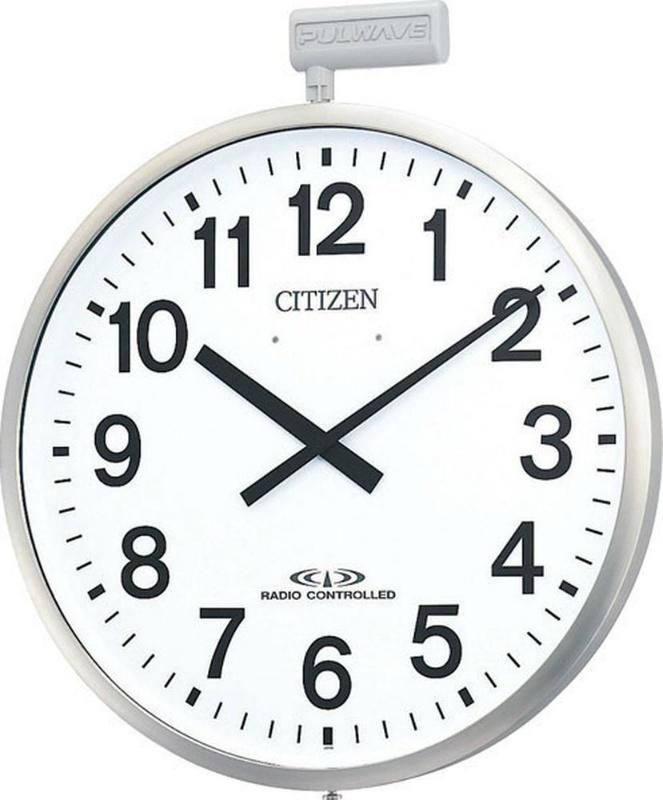 [正規販売店] 激安卸販売新品 防雨タイプ 屋外用 電波掛時計パルウェーブ M611-B19 シチズン CITIZEN φ500×68mm リズム時計工業