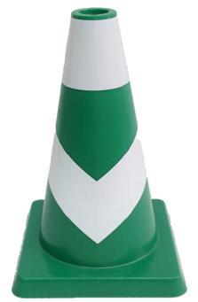 ポイントコーン 緑/白反射 H450mm 10本セット