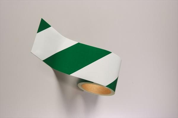 ダイヤテープ(白/緑) 反射(12巻1組)