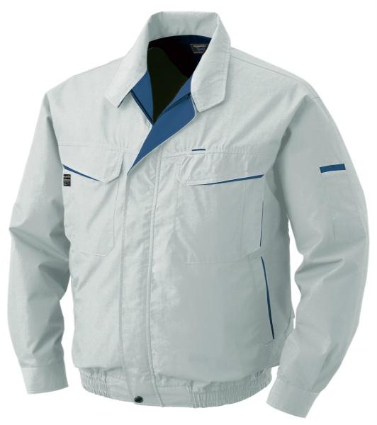 熱中症-空調服 混紡 シルバー 熱中症対策 暑さ対策