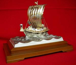 銀製 宝船 フサ4号