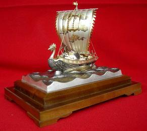 銀製 宝船 トリ5号