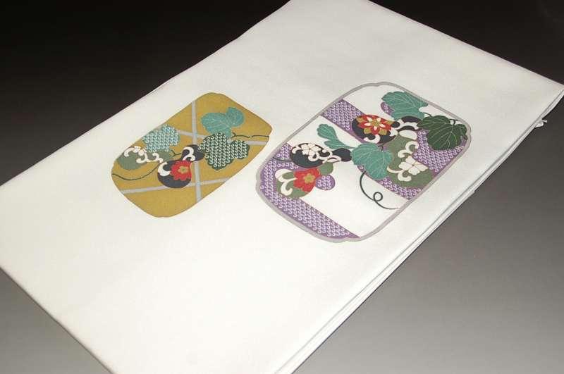 お洒落染め名古屋帯-No.025(仕立て上がり・正絹・袷用帯)【送料無料】