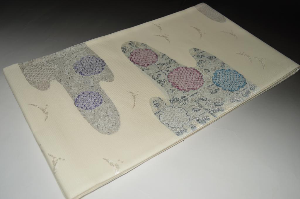 【京都西陣織】夏袋帯-No.6882お仕立て上がり商品京都西陣錦 六通帯 本体絹素材【送料無料・日本製品】
