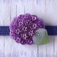 紫陽花の帯留 公式 オリジナル だ円 商品番号 WA-092