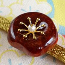小梅の帯留 赤 商品番号 WA-178 安い 激安 プチプラ 高品質 出群