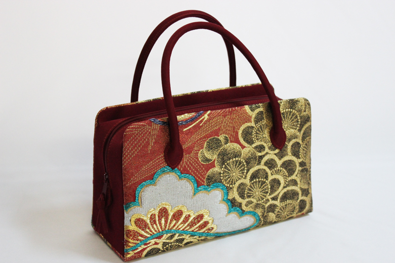 日本製品 利休 正絹 バック No.011(西陣織 絹素材/送料無料/結婚式 お茶会 パーティー )