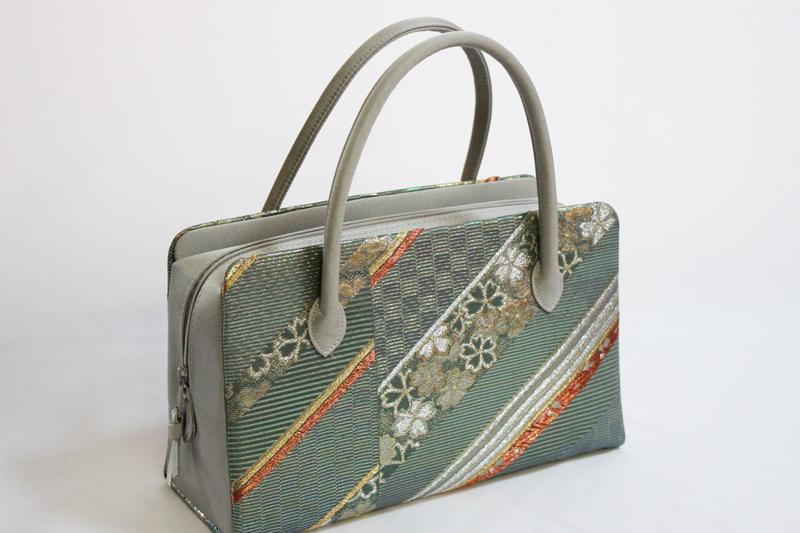 日本製品 利休 正絹 バック No.013(西陣織 絹素材/送料無料/結婚式 お茶会 パーティー )