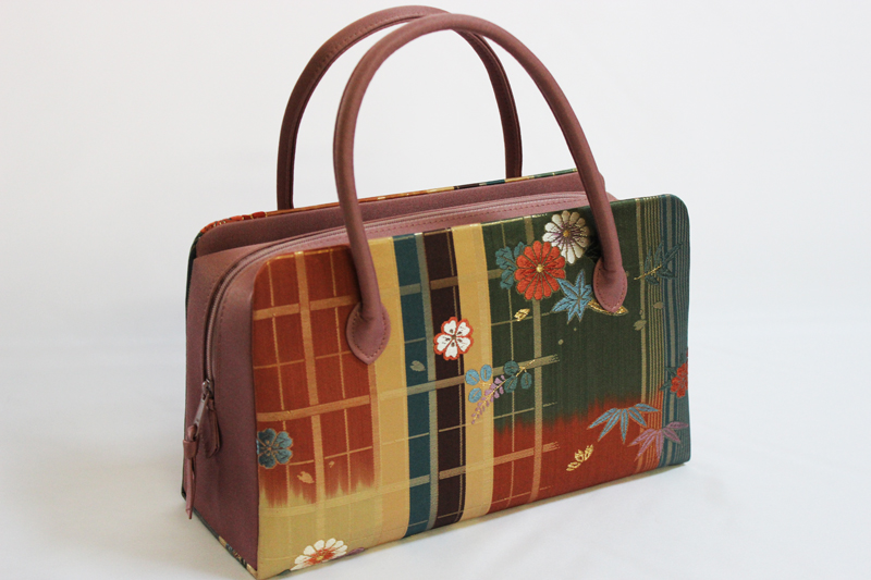 日本製品 利休 正絹 バック No.014(西陣織 絹素材/送料無料/結婚式 お茶会 パーティー )