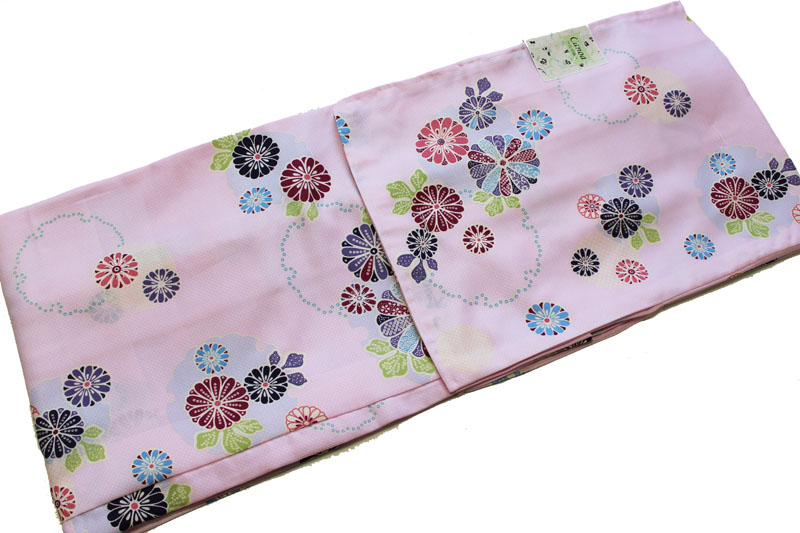 お仕立て上がり長羽織-No.216(フリーサイズ&TL有/canoa/地色:ピンク色/洗える/鹿の子地模様/小紋柄タイプ/TLサイズは300円アップとなります。)