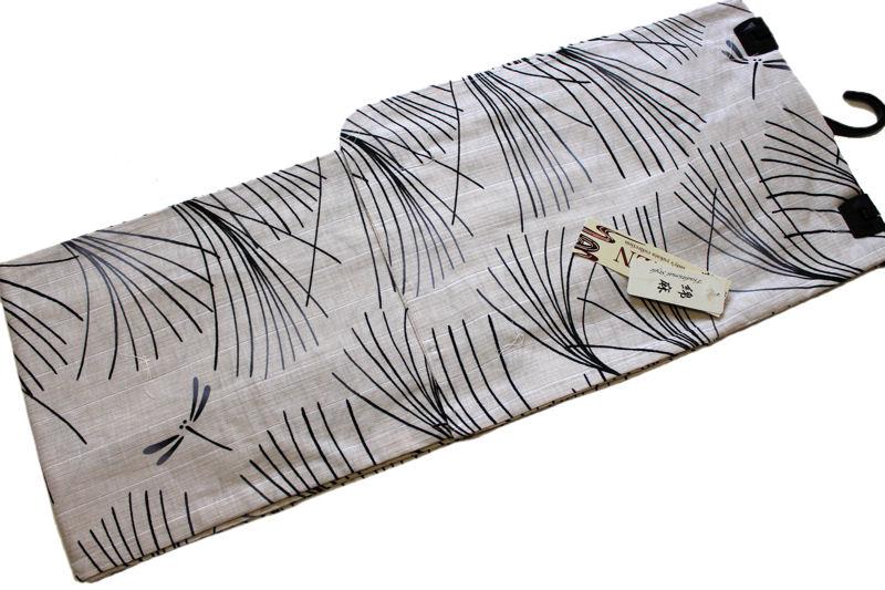 綿麻浴衣 変わり織り個性派浴衣 No 113 地色 生成色 仕立て上がり フリーサイズ 綿80%麻20% 送料無料DHYWEI29