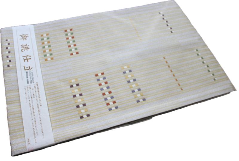 正絹西陣織り名古屋帯-No.046(地色:オフホワイト/織り柄/送料無料/日本製品)