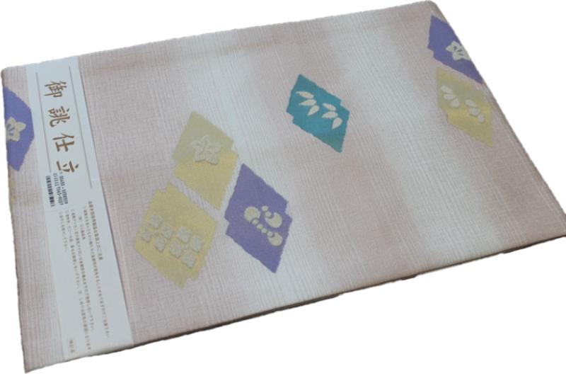 正絹西陣織り名古屋帯-No.095(地色:薄らピンク/織り柄/送料無料/日本製品)