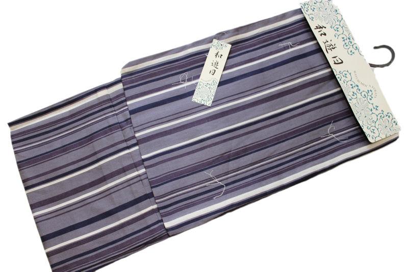 男性用綿麻素材の浴衣-No.002(各サイズ有り/地色:グレイ系/男性用/単品/綿80%麻20%/送料無料)