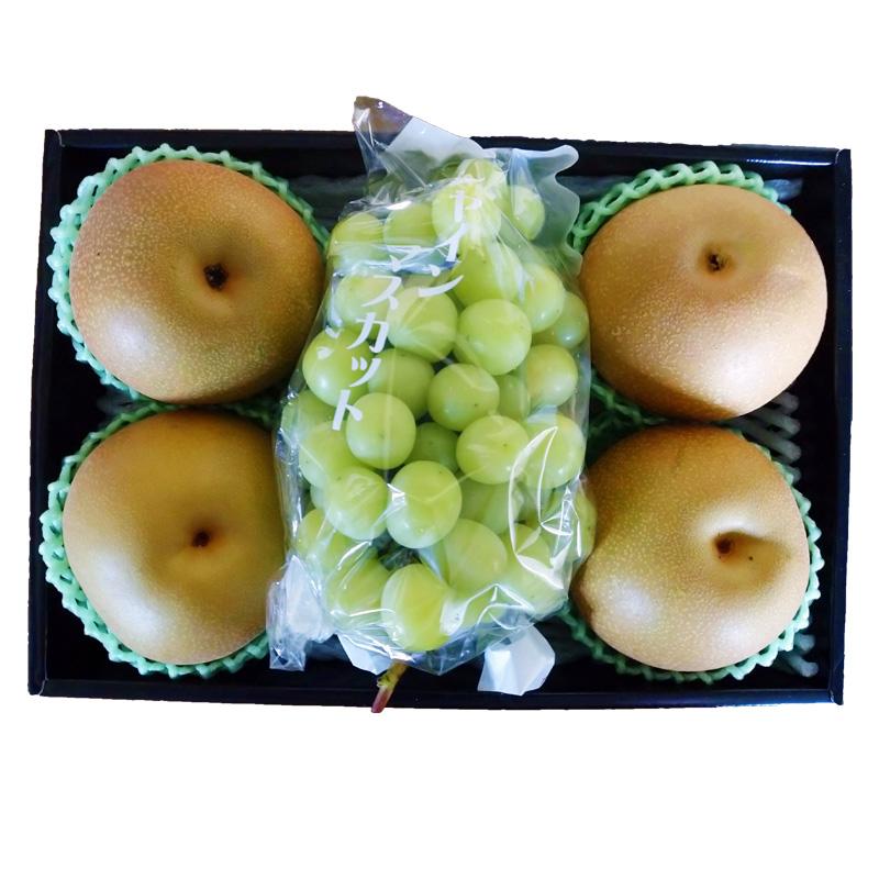 時期により一番美味しい品種や産地の物をお届け致します 再再販 シャインマスカット 梨セット 送料無料 贈り物 プレゼント ギフト ご家庭用 ご贈答用 ギフ_包装