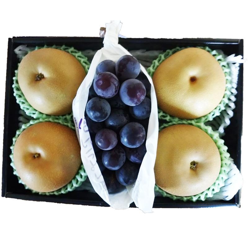 時期により一番美味しい品種や産地の物をお届け致します ピオーネ 公式 梨セット 送料無料 贈り物 ご家庭用 売買 ご贈答用 ギフト プレゼント