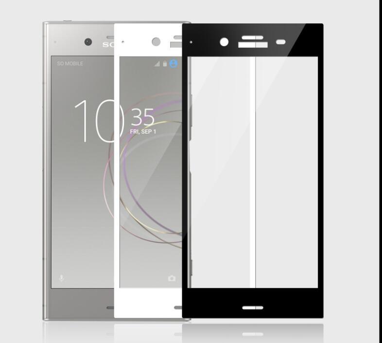 送料無料 ゆうパケットで発送 Xperia XZ1 強化ガラス フィルム ギフ_包装 ストアー SO-01K SOV36 701SO 全面保護 ソニー film 黒 白 Sony 金 エクスペリア