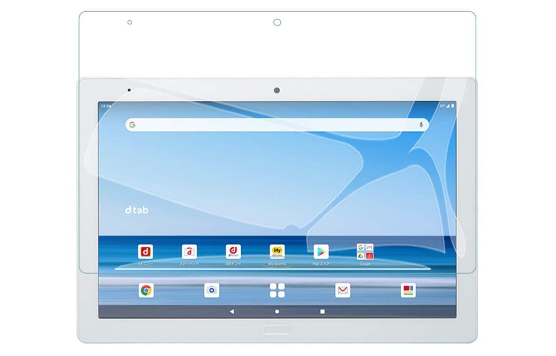 タブレット pc tablet 画面 シール 人気の定番 傷 防止 アクセサリー 液 強化ガラス ガラスフィルム 液晶保護フィルム 保護シート 公式 Dtab タブ Docomo d-41A