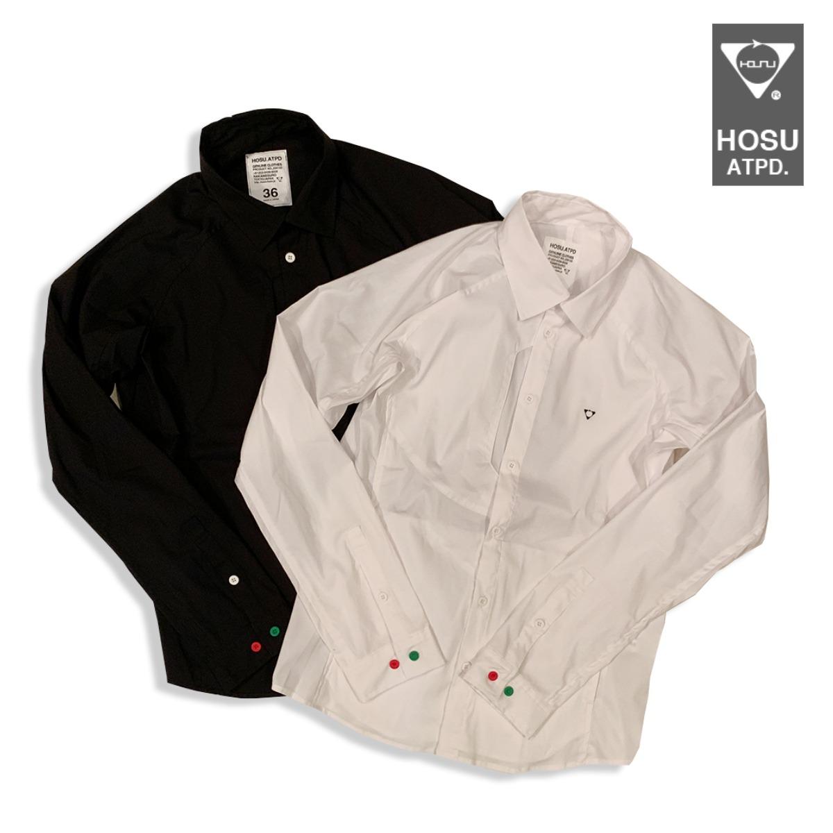 HOSU Stretch L/S Shirt ホス ストレッチシャツWhite,Black 2色4サイズ