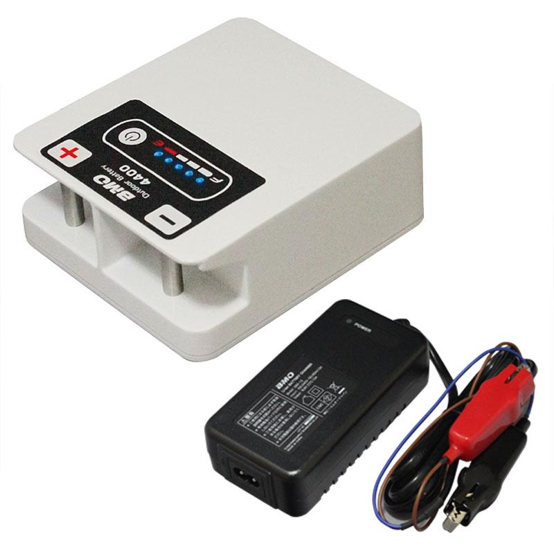BMO アウトドアバッテリー4400(チャージャーセット)