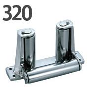 ステンレス製 デッキエンドローラー 320
