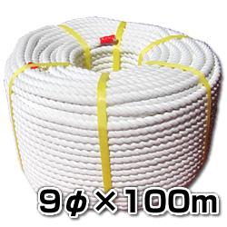 エステルSロープ【巻売】 9φx100m 舫やアンカーロープに!