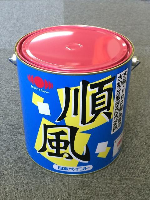 日本ペイント 順風 赤 4kg 4缶セット 『送料無料』 船底塗料
