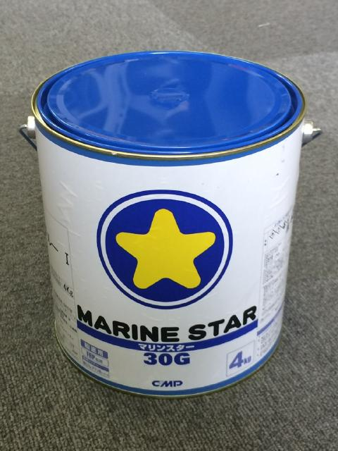 沿岸小型船用船底防汚塗料 マリンスター30G 4kg 4缶 中国塗料 船底塗料 送料無料