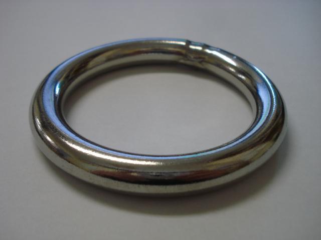 ステンレス 溶接丸リング 溶接丸カン 線径φ25×内径φ180  R-25×180