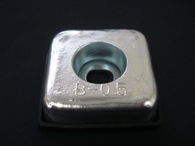 送料無料! 亜鉛板 KZC-B-0.5  20 x 75 x 75 48枚 (1ケース )ヤマト宅急便使用不可