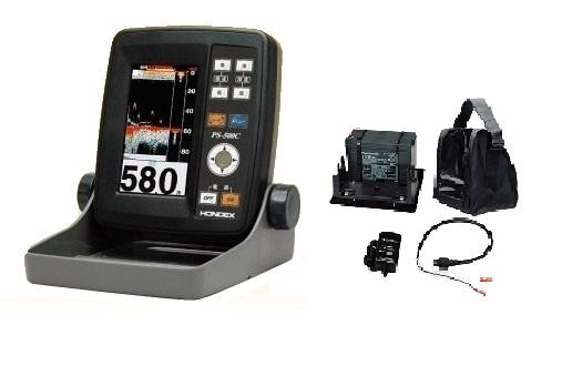 ホンデックス HONDEX PS-500Cバリューセット 魚群探知機 4.3型ワイドカラー液晶ポータブル魚探(バッテリーセット)