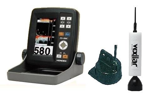 ホンデックス HONDEX PS-500C TD04A振動子+ワカサギ振動子同梱 魚群探知機
