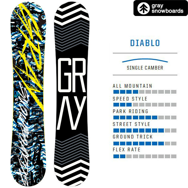 17/18GRAY SNOWBOARD【DIABLO】