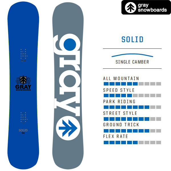 17/18GRAY SNOWBOARD【SOLID(BLUE)/154】