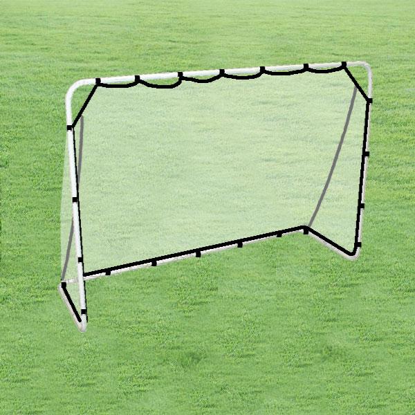 スチールサッカーゴール【LS-18012】キックターゲット付!