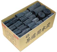 茶道具 茶炭 炉用くぬぎ炭 組炭 中箱代金引換不可(茶道具用木炭 ギフト 通販 )