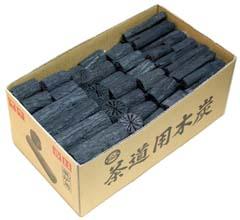 茶道具 茶炭 風炉用くぬぎ炭 組炭 中箱代金引換不可(茶道具用木炭 ギフト 通販 )