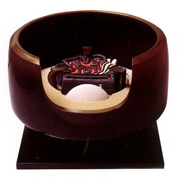 茶道具 唐銅製 面取風炉(古銅色)灰型付 ※この商品は取り寄せ品になります。