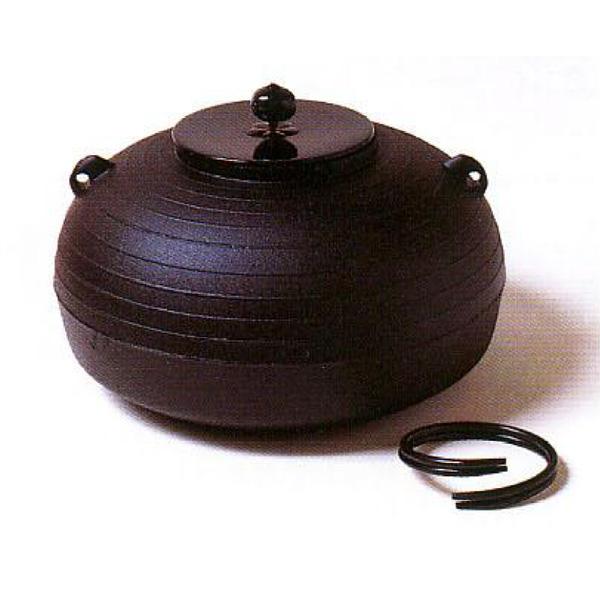 茶道具 釜 しきの釜 平丸千筋釜 ※この商品は取り寄せ品になります。