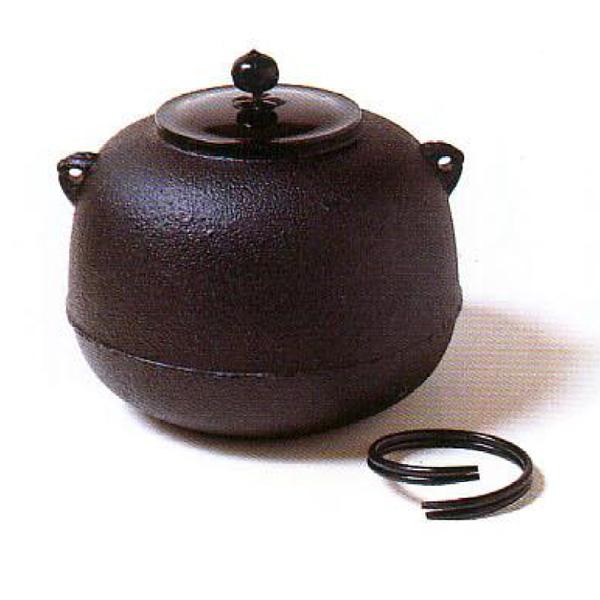 茶道具 釜 しきの釜 丸釜 ※この商品は取り寄せ品になります。