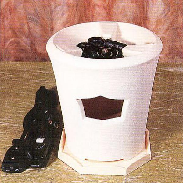 茶道具 煎茶用炉 新 涼炉(白) ※この商品は取り寄せ品になります。